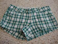Women's jrs CHARLOTTE RUSSE green plaid shorts, 5