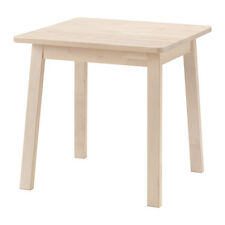 Good NORRÅKER Solid Wood White Birch Dinning/General Use Table,Round  Corners,74x74 Cm