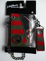 Freddy Krueger Nightmare on Elm Street Horror Movie Chain Wallet Nwt