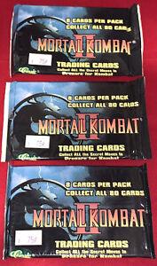 (3) Mortal Kombat II Trading Card Packs Sealed NEW!!