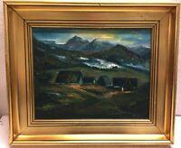 Olsen, Erik L. ELO Faroe Islands Landscape Scenario Oil Painting 45 x 40 cm