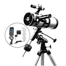 Visionking 114/1000mm EQ Equatorial Mount Space Astronomical Telescope Motor