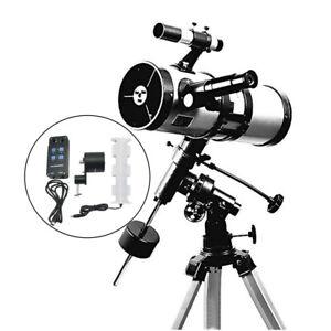Visionking 114/1000mm EQ Equatorial Mount Space Astronomical Telescope Motor