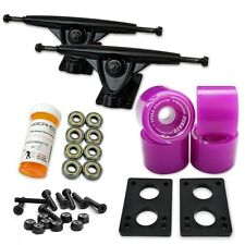 HD7 Longboard Combo set - Black trucks (Solid Purple)