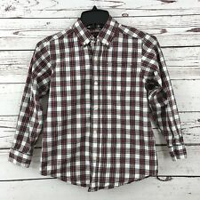 Childrens Place Boy Youth SZ Med 7-8 Tartan Plaid Holiday Button Up Dress Shirt