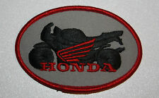 "HONDA Motocycle embroidered Ironon Patch red wings racing 3""3/4 x 2""1/2"