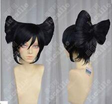 Costume game / Geisha princess Great Wing Super big black bow cos wig