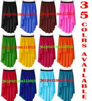 Women Lady Chiffon Hot Sexy Asym Skirts Waist Maxi High Low Hem Dress   35 COLOR