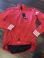 New Adidas Mens Adistar OJ LS Cycling Jacket Size Small Red White $225