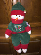 "NWT NHL MINNESOTA WILD SNOWFLAKE FRIENDS Snowman, 28"", Adorable Decor!"
