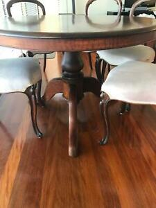Antique Victorian table and chairs