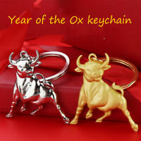 Metal Ox Year Lucky Key Ring Pendant Lucky Bull Keychain Cars Bags Pendant