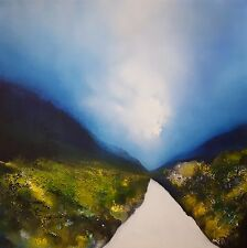 "ISABELLE AMANTE ORIGINAL ""Path To Freedom"" IMPRESSIONIST LANDSCAPE PAINTING"