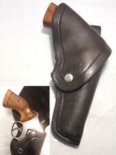 """OLIVER BALL Vintage Flap Gun Holster for S&W K Frame 10 15 19 66 4"""" COLT Trooper"""