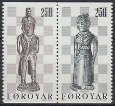 Färöer 1983 ** Mi.82/83 Kunst Art | Schachfiguren Chessman