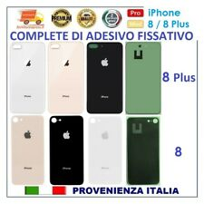 VETRO POSTERIORE SCOCCA BACK COVER OEM x APPLE iPHONE 8 8 plus NERO BIANCO GOLD
