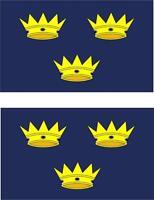 2x Adhesivo adesivi pegatina sticker vinilo bandera moto coche irlanda munster