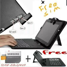 10 inch Phone for calls & browsing, dual sim tablet, Free sd card & keyboard cas