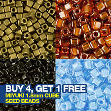 Miyuki 1.8mm Cube Seed Beads 8.2g Tube (approx 700 beads)