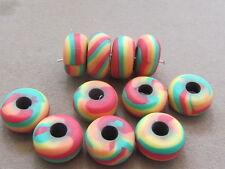 15 Multicolor 15x8mm  Polymer Clay  Beads(NNN26E)