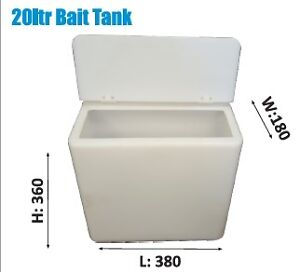 Kayak FIshing Live Bait Tank - 20Ltr  - Clear - Aussie Made
