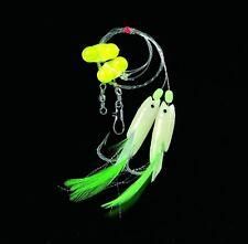 DEGA Dorsch-Vorfach mit Rattle-Beads Hg.6/0 gelb/selbstleuchtend