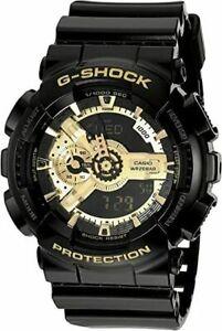 New Casio G-Shock Analog-Digital Black Resin Strap Mens Watch GA110GB-1A