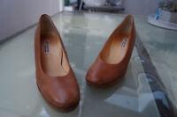 schicke PAUL GREEN Damen Schuhe Pumps High Heels Gr.5,5 / 38,5 braun Leder TOP