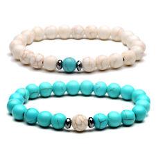 2pcs 8mm Distance Bracelets Energy Healing Stone Beads Bracelet Couple Jewelry