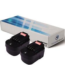 Lot de 2 batteries 14.4V 3000mAh pour Black et Decker CD142SK - Sté Française