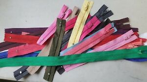 """lot of 100 Assorted wholesale mix different colors nylon zippers 3"""" to 19"""""""