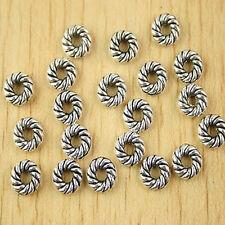 60pcs Tibetan silver spiral spacer beads h2648