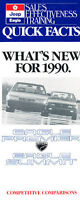 1990 Eagle Premier and Summit Quick Facts Brochure