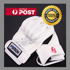 """""""WHITE""""  Quality ufc style Gloves mma kick boxing bjj grappling fight sparring"""