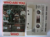 THE WHO WHO ARE YOU AUSTRALIAN RELEASE CASSETTE TAPE