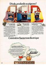 PUBLICITE  1971   SAUTER   cuisinières éléctriques