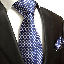 Blaue Krawatten Set 2tlg 100% Seidenkrawatten blau 321