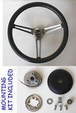 """Grant Black Steering Wheel SS Cap 15"""" Stainless Steel Spokes Fits Ididit Column"""