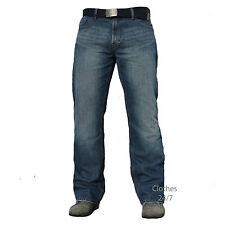 Hombre Azul Oscuro Jeans de Mezclilla Pantalón Talla Cintura 30 32 34 36 38 40