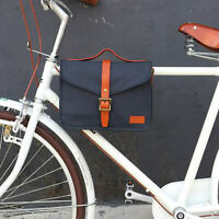 Tourbon Canvas Cycling Bike Handlebar Bag Shoulder Messenger Bicycle Saddlebags