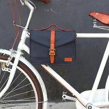 Tourbon Canvas Cycling Bike Handlebar Bag Shoulder Messenger Bicycle Saddlebags