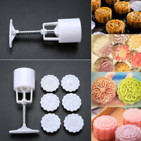 6 Stempel Backen Mooncake Formgebäck Quadra Mondkuchen Form Hand Druck Mould
