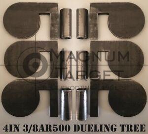 """4""""x 3/8"""" AR500 Steel Shooting Range Targets Dueling Trees Metal Paddles w/tubes"""