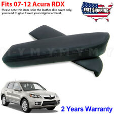 Fits 2007-2012 Acura RDX Leather Front Door Panels Armrest Cover 2pcs Black