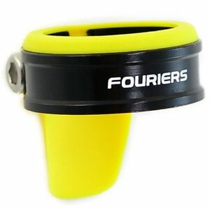 FOURIERS Seatpost Clamp With NBR Cover Spec: 34.9 , Yellow x Black