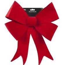 "15"" x 19"" Large Tree Door Window Decoration Christmas Red Velvet Bow Ornament"