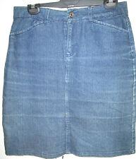 Ladies Rivers Size 10 Denim Skirt Blue Cotton Blend Stretch