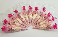 x15 Pre Filled Large Pink Sweet Gift Bags Cones  Party wedding favours Free P&P.