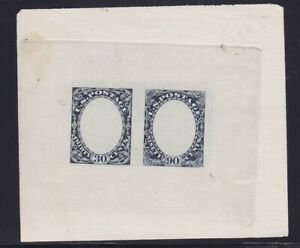 190-E1c Dark Blue XF Essay unused with nice color cv $ 100+ ! see pic !