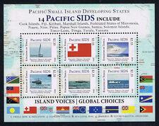 Tonga Pacific Small Island Developing States (SIDS) Stamp Ships Mini-Sheet